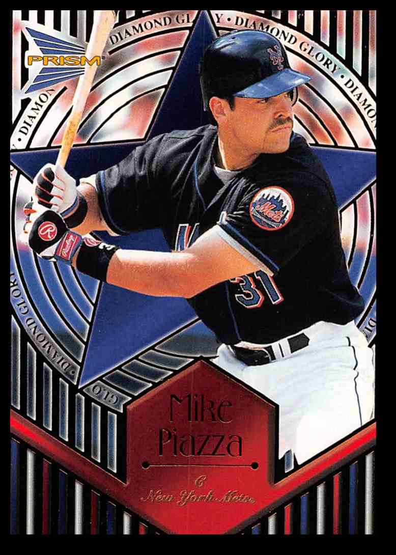 1999 Pacific Prism Diamond Glory Mike Piazza #12 card front image