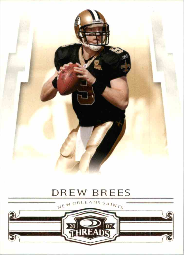 2007 Donruss Threads Drew Brees #29 card front image