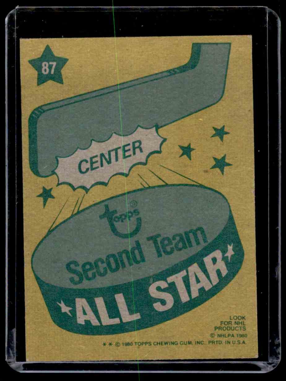 1980-81 Topps Wayne Gretzky #87 card back image