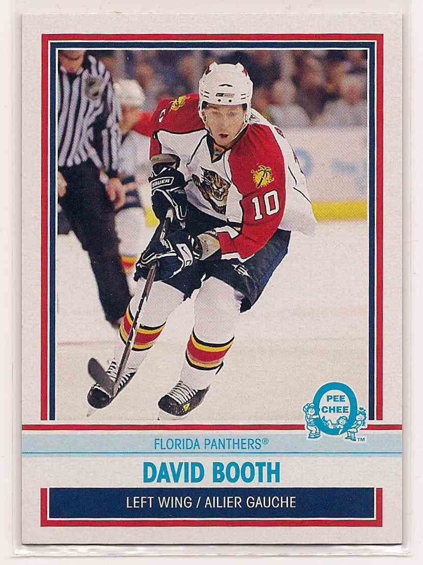 2009-10 0-Pee-Chee Retro David Booth #489 card front image