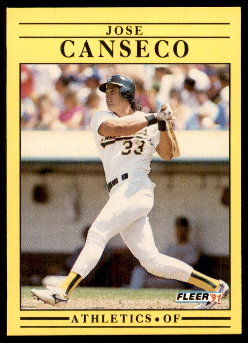 1991 Fleer Jose Canseco #5 card front image