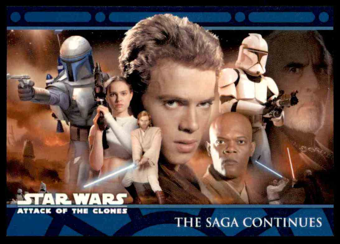 2002 Topps Star Wars Attack Of The Clones The Saga Continues #1 card front image