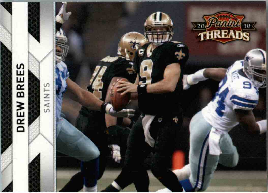2010 Panini Threads Drew Brees #91 card front image
