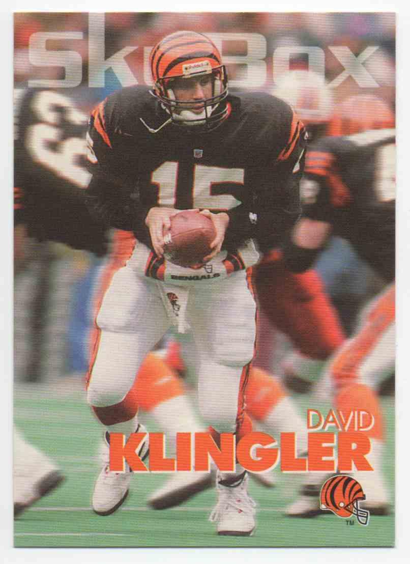 1993 Skybox Impact David Klingler #45 card front image