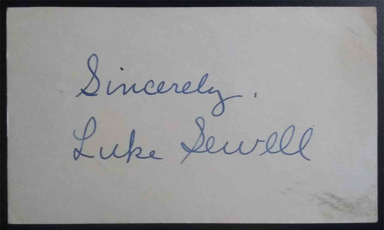1921 3X5 Luke Sewell card back image