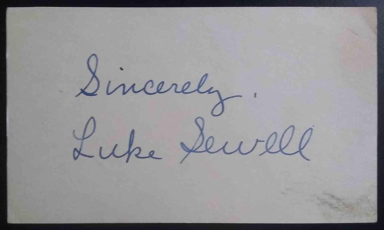 1921 3X5 Luke Sewell card front image
