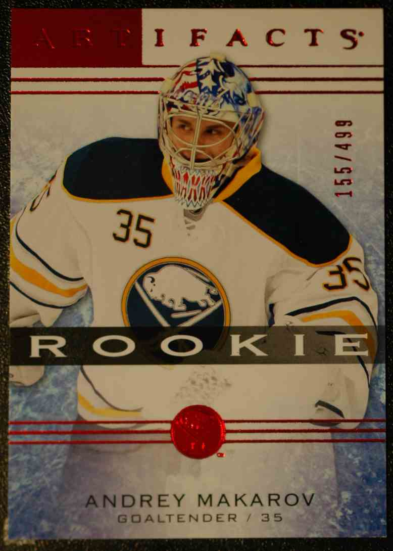 2014-15 Artifacts Ruby RC Andrey Makarov #128 card front image