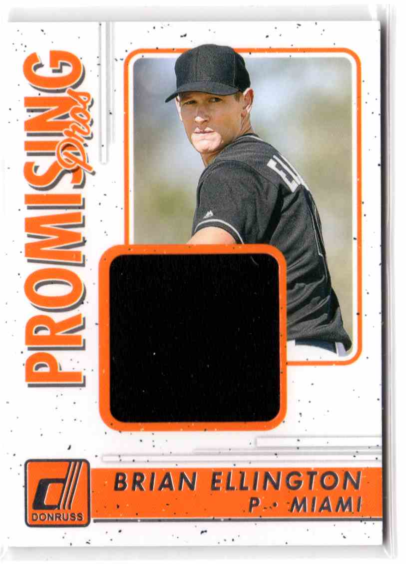 2017 Donruss Promising Pros Materials Brian Ellington #PPMBL card front image