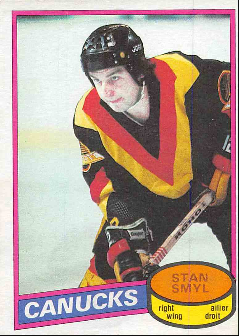 1980-81 O-Pee-Chee Stan Smyl #208 card front image