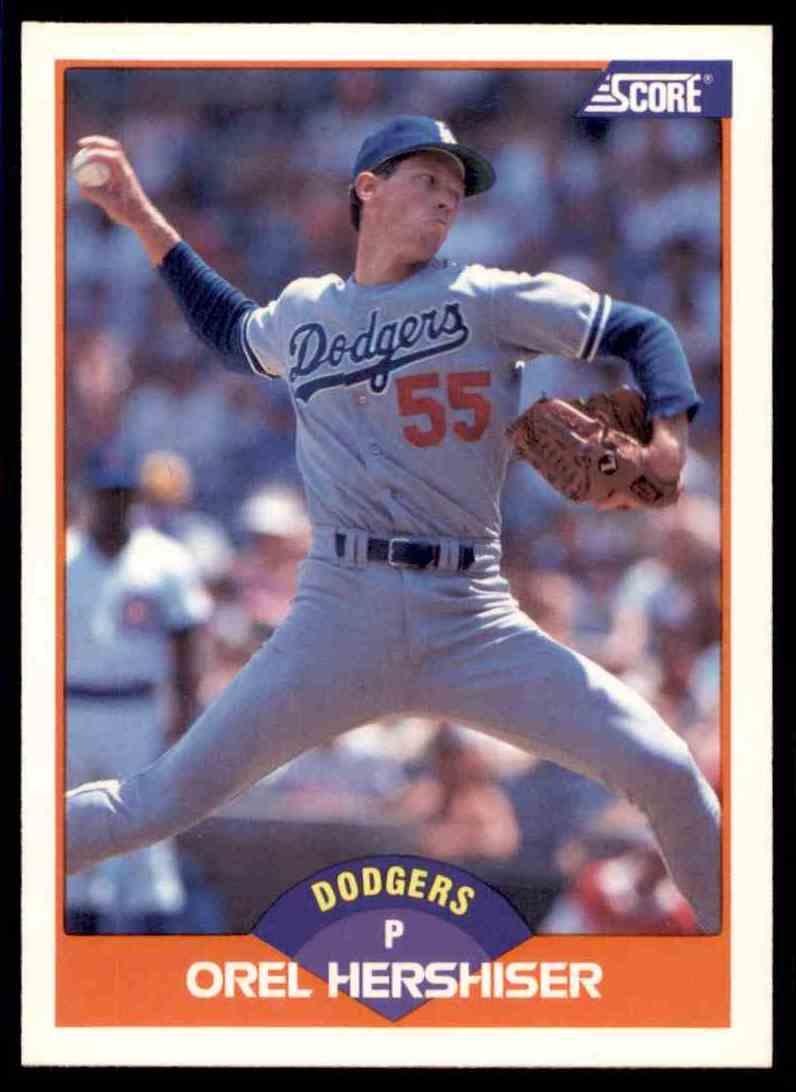 1989 Score Regular Orel Hershiser #370 card front image