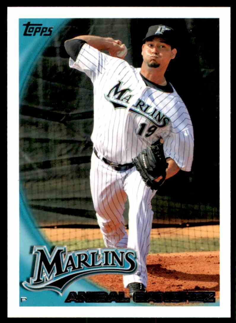 2010 Topps Anibal Sanchez #583 card front image