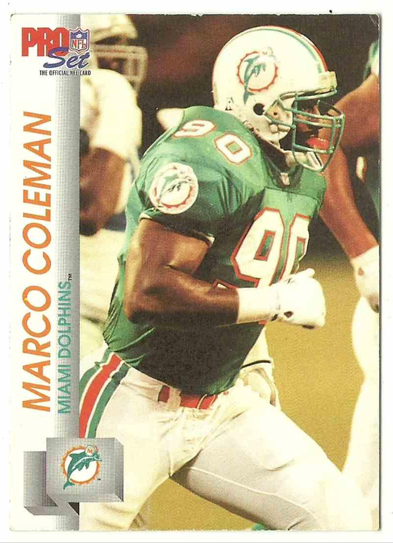 1992 Pro Set Marco Coleman #556 card front image