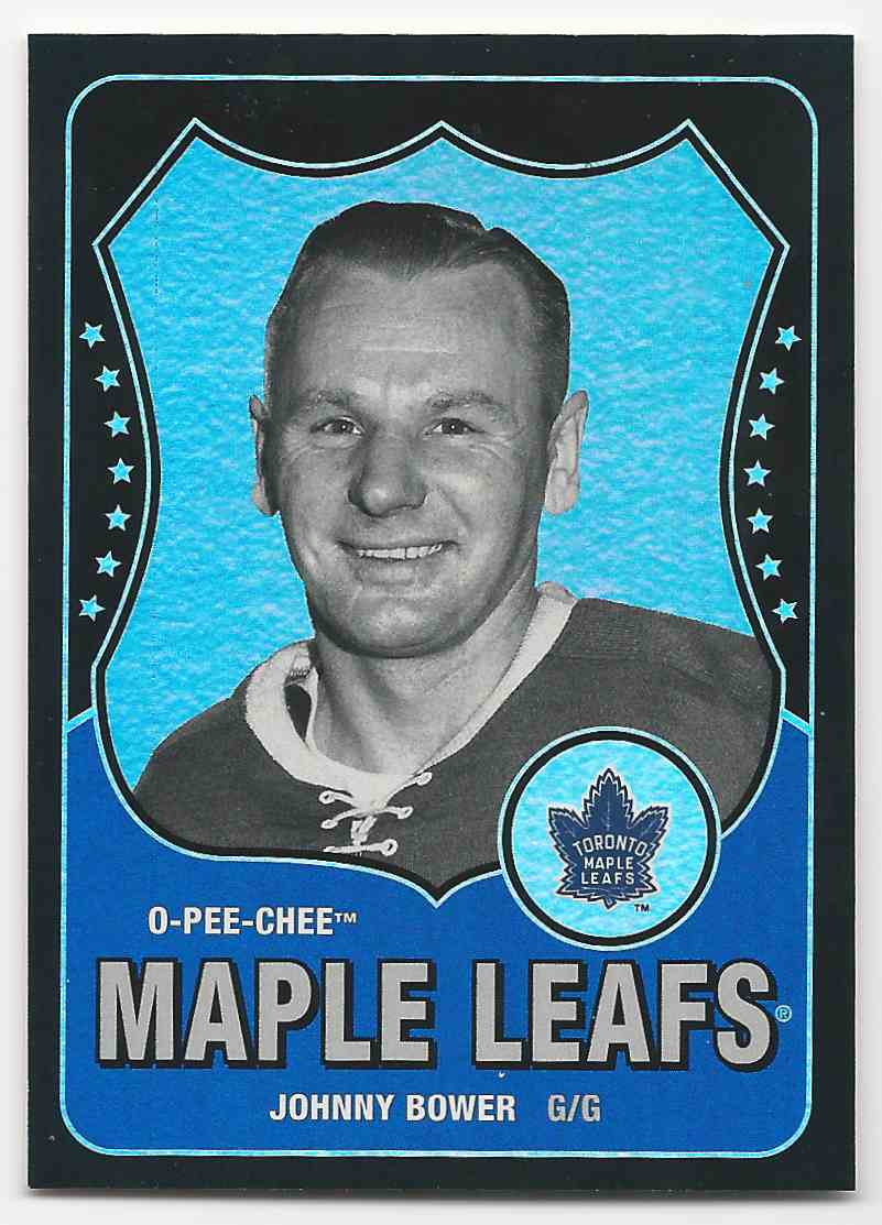 2010-11 O-Pee-Chee Retro Black Rainbow Johnny Bower #593 card front image