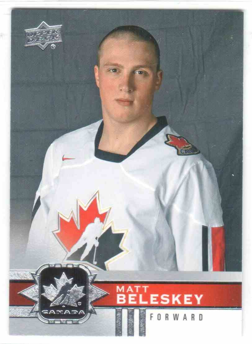 2017-18 Upper Deck Team Canada Canadian Tire Matt Beleskey #4 card front image