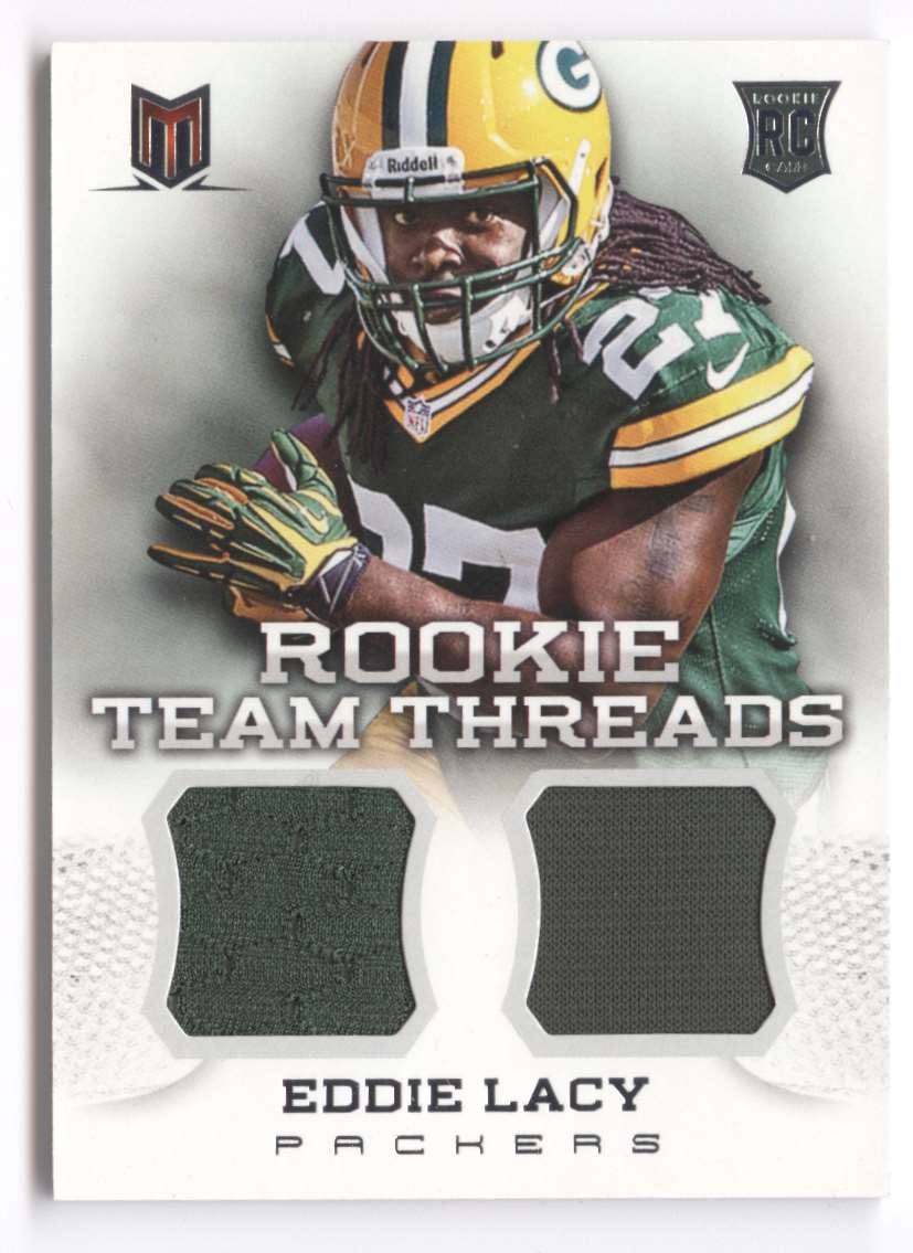 2013 Panini Momentum Rookie Team Threads Combo Materials Eddie Lacy #10 card front image
