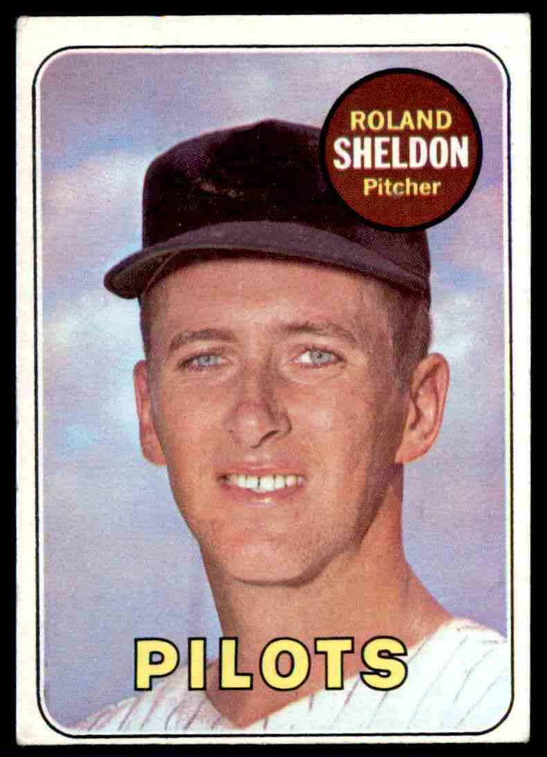 1969 Topps Roland Sheldon #413 card front image