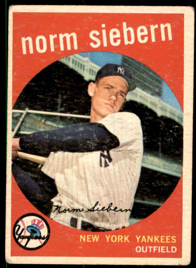 1959 Topps Norm Siebern #308 card front image