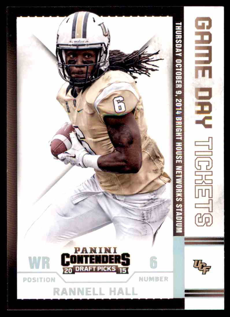 2015 Contenders Draft Picks Game Day Tickets Rannell Hall Ucf