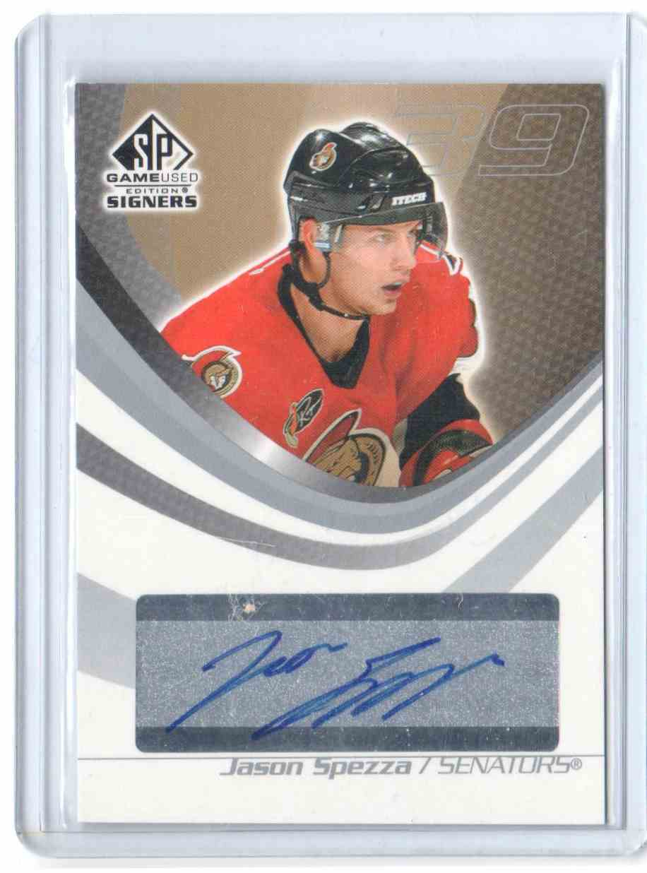 2003-04 SP Game Used Signers Jason Spezza #SPS-JS card front image