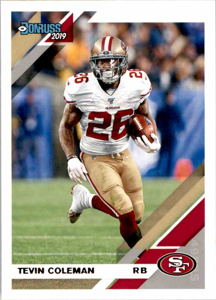 2019 Panini Donruss Tevin Coleman #20 card front image