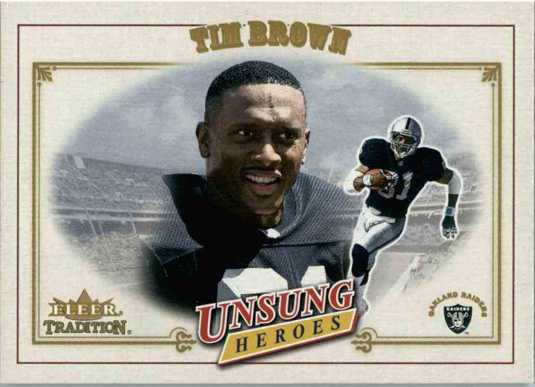 2001 Fleer Tradition Tim Brown #321 card front image