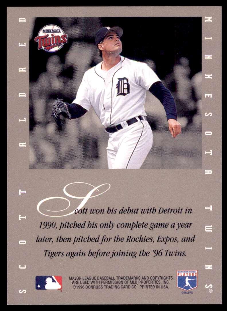 1996 Leaf Signature Series Signatures Update Scott Aldred #SCAL card back image