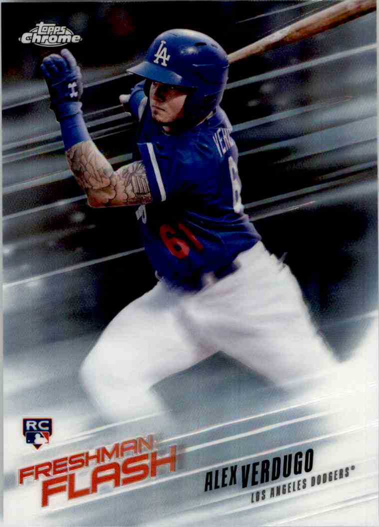2018 Topps Chrome Freshman Flash Alex Verdugo #FF-10 card front image