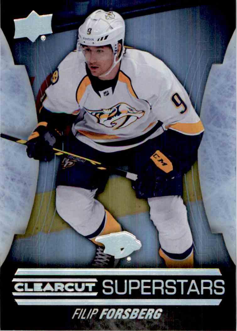 2015-16 Upper Deck Clearcut Superstars Filip Forsberg #CCS-25 card front image