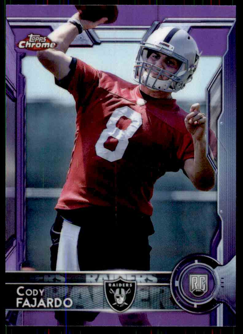 2015 Topps Chrome Purple Refractor Cody Fajardo #199 card front image