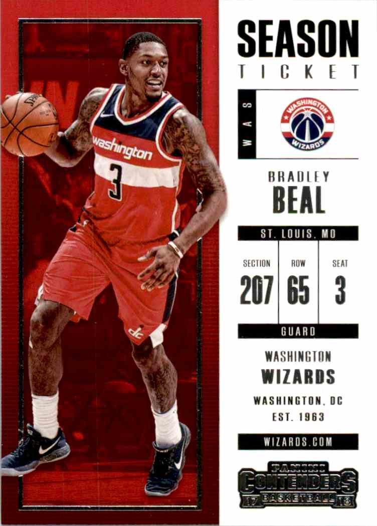 2017-18 Panini Contenders Base Bradley Beal #90 card front image