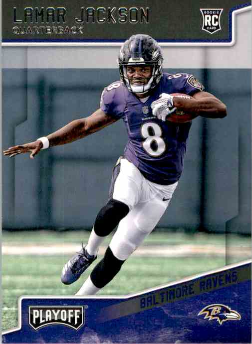 2018 Playoff Lamar Jackson #212 card front image