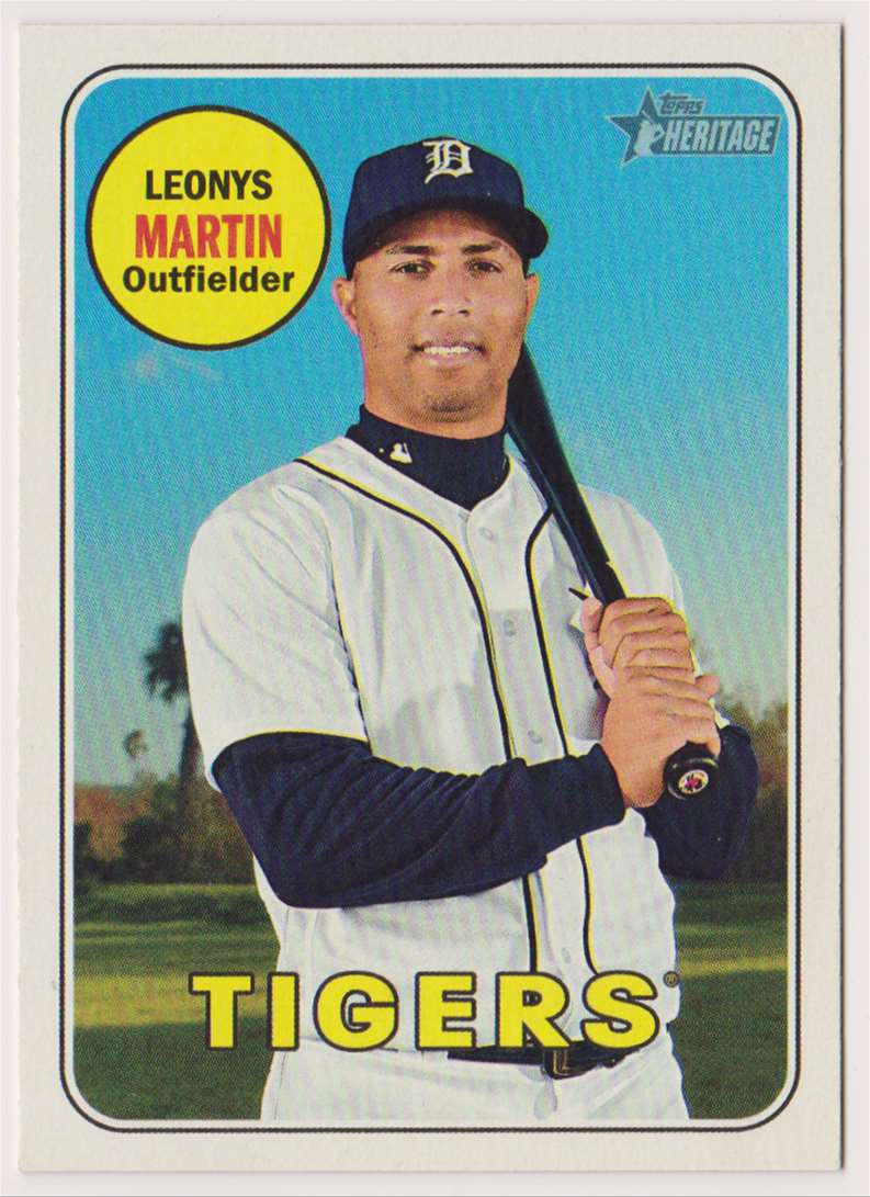 2018 Topps Heritage Leonys Martin #550 card front image