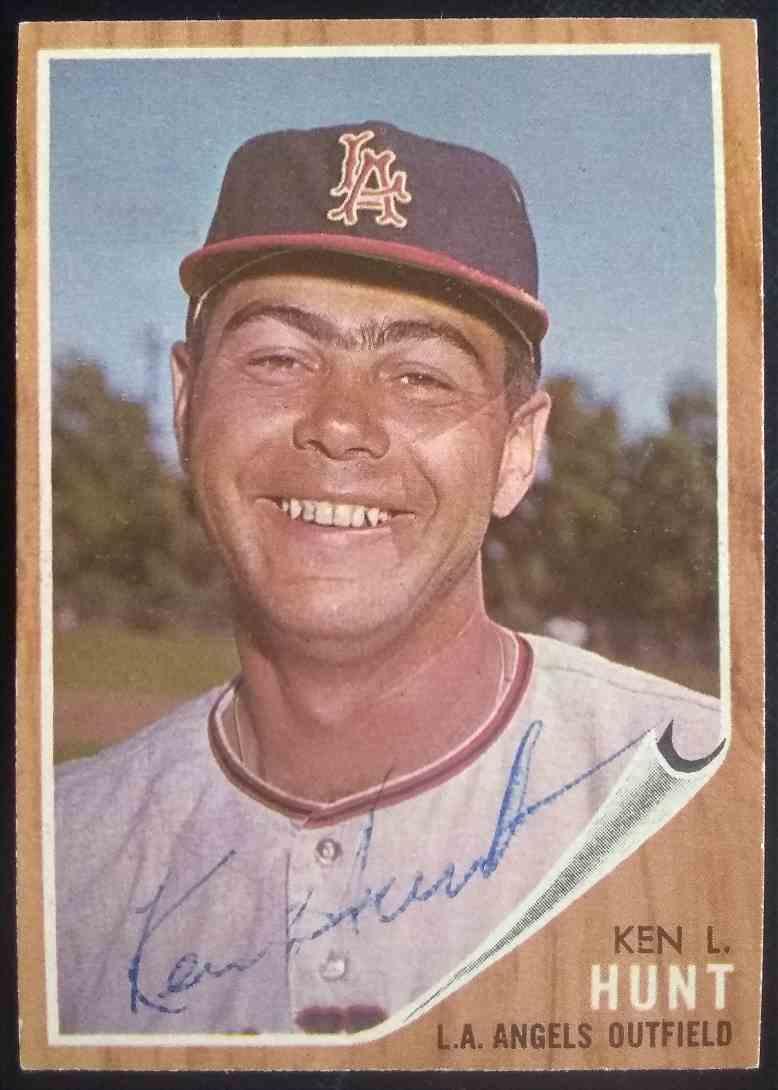 1962 Topps Ken L. Hunt #68 card front image