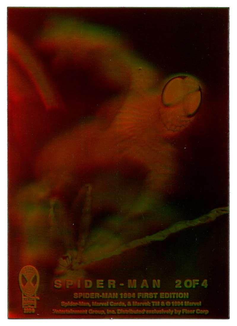 1994 Amazing Spider-Man Hologram Spider-Man #2 card front image