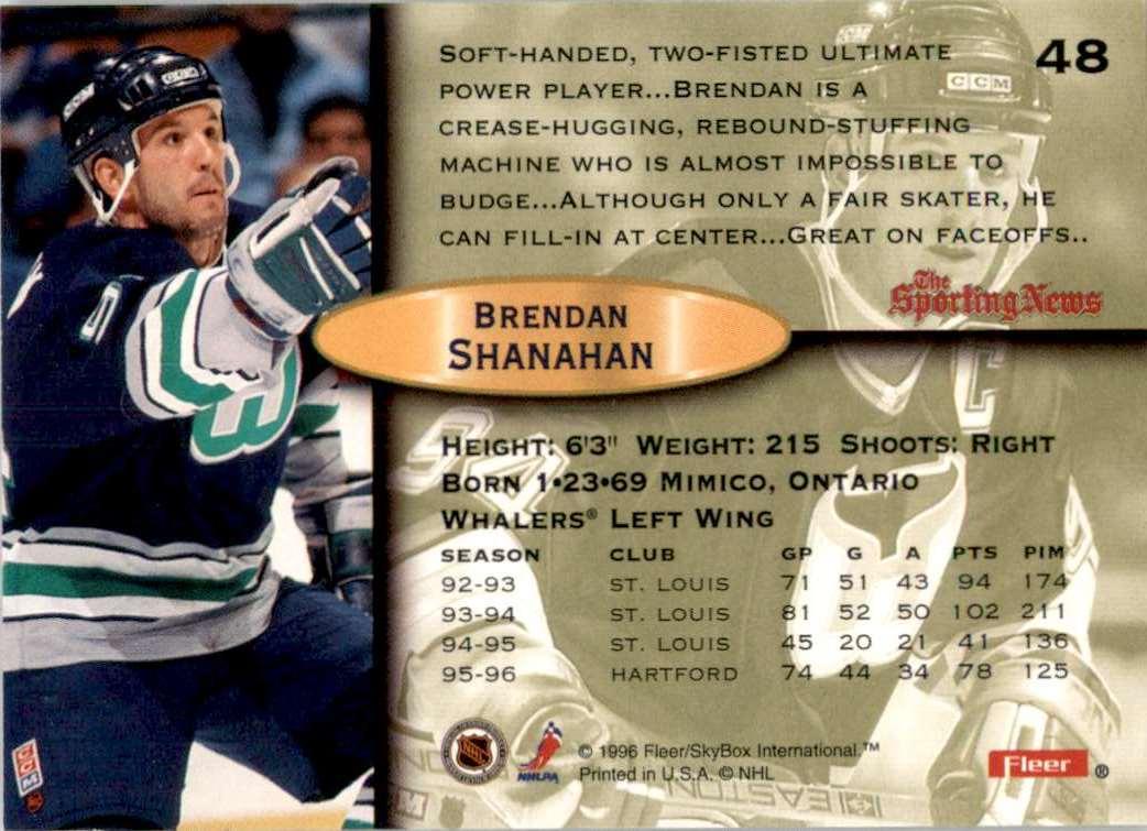 1996-97 Fleer Brendan Shanahan #48 card back image