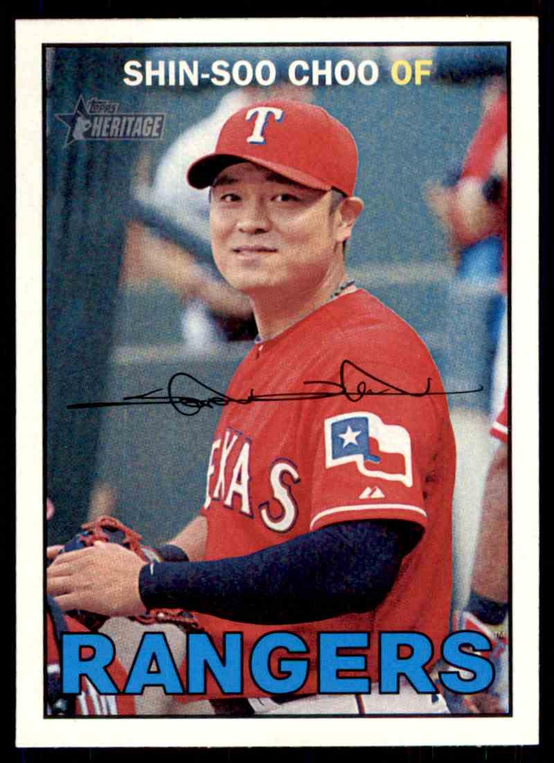 2016 Topps Heritage Baseball Shin Soo Choo 8 On Kronozio