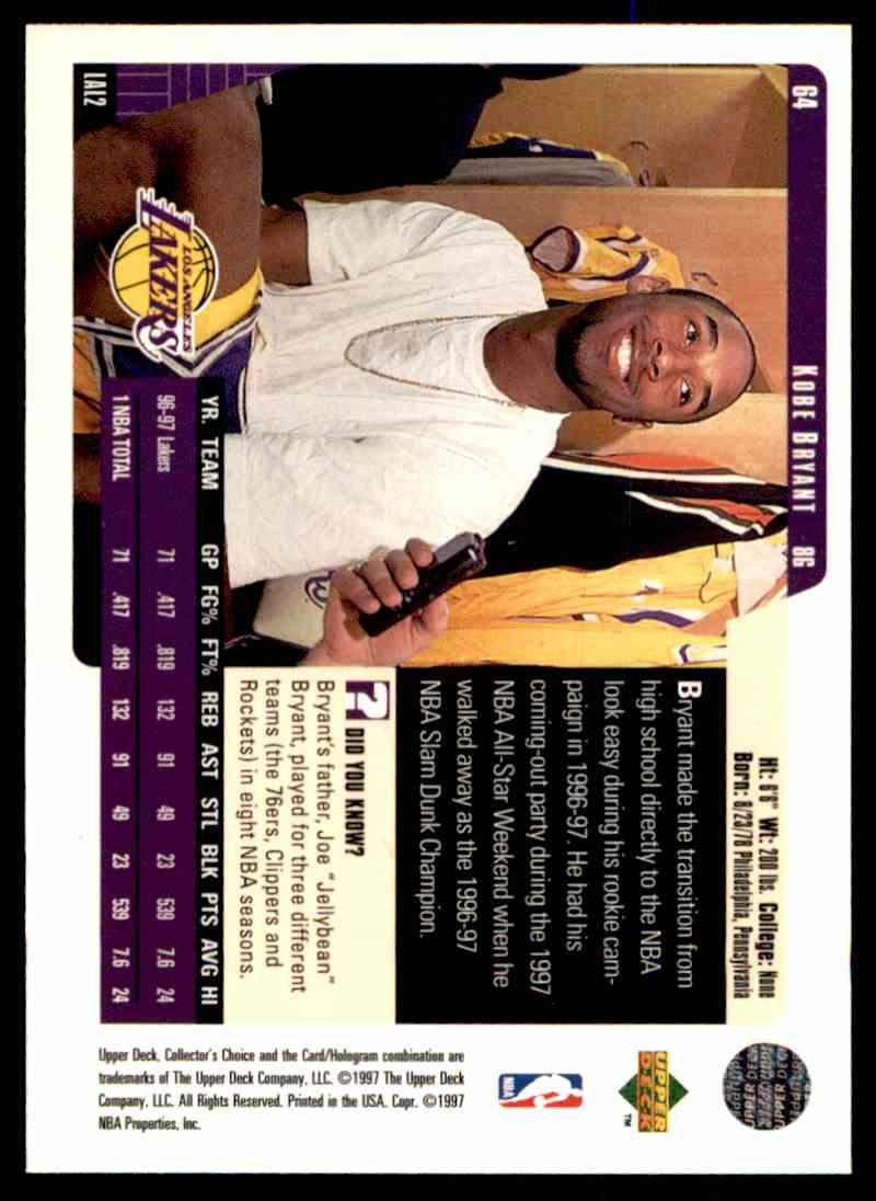 1998-99 Upper Deck Kobe Bryant #64 card front image