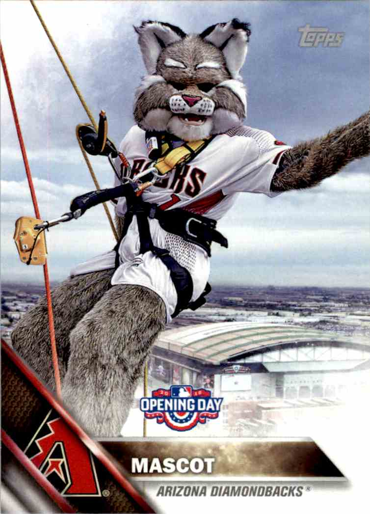 2016 Topps Opening Day Mascots Baxter The Bobcat #M-6 card front image