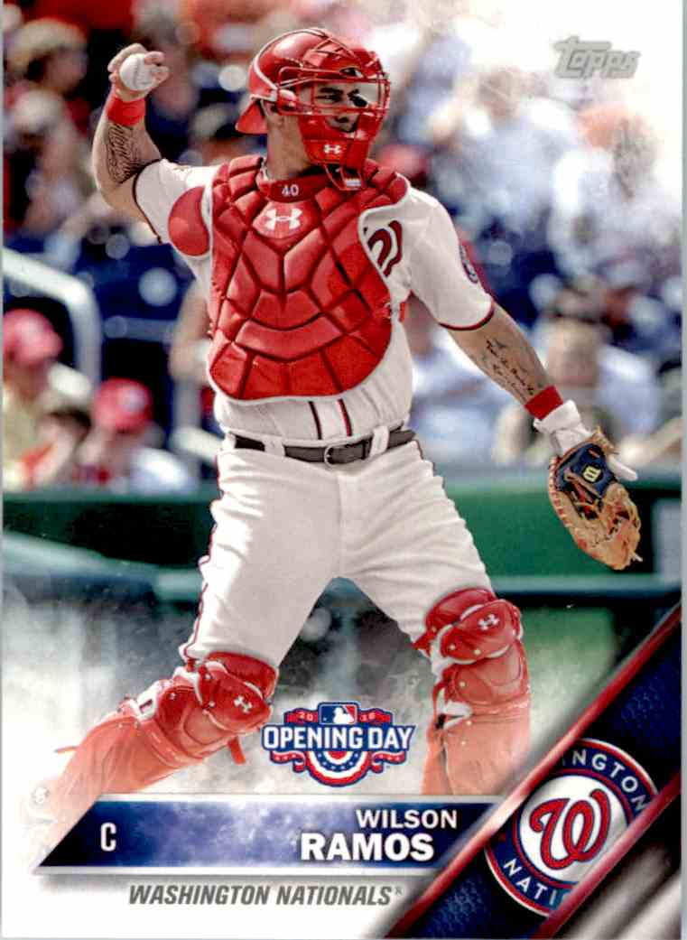 2016 Topps Opening Day Wilson Ramos #OD-34 card front image