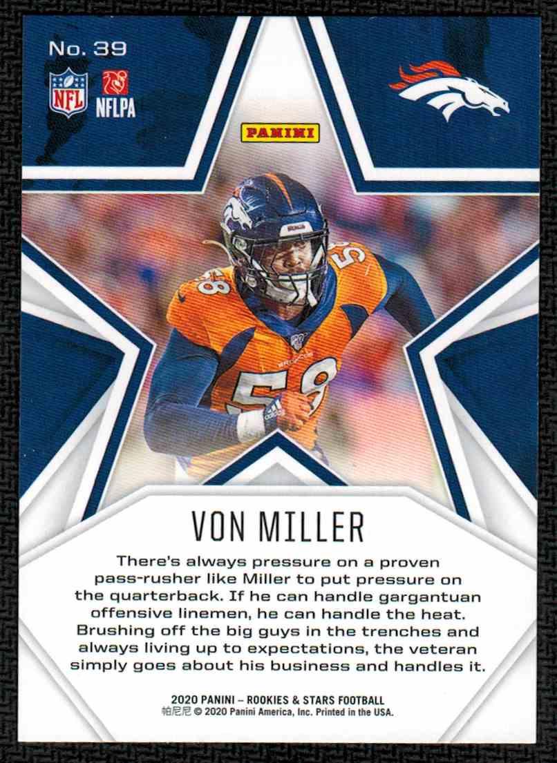 2020 Panini Rookies & Stars Von Miller #39 card back image