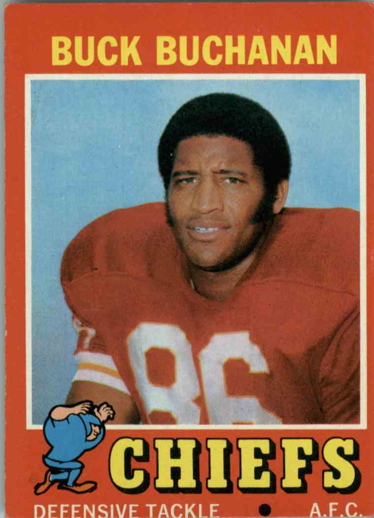1971 Topps Buck Buchanan #13 card front image