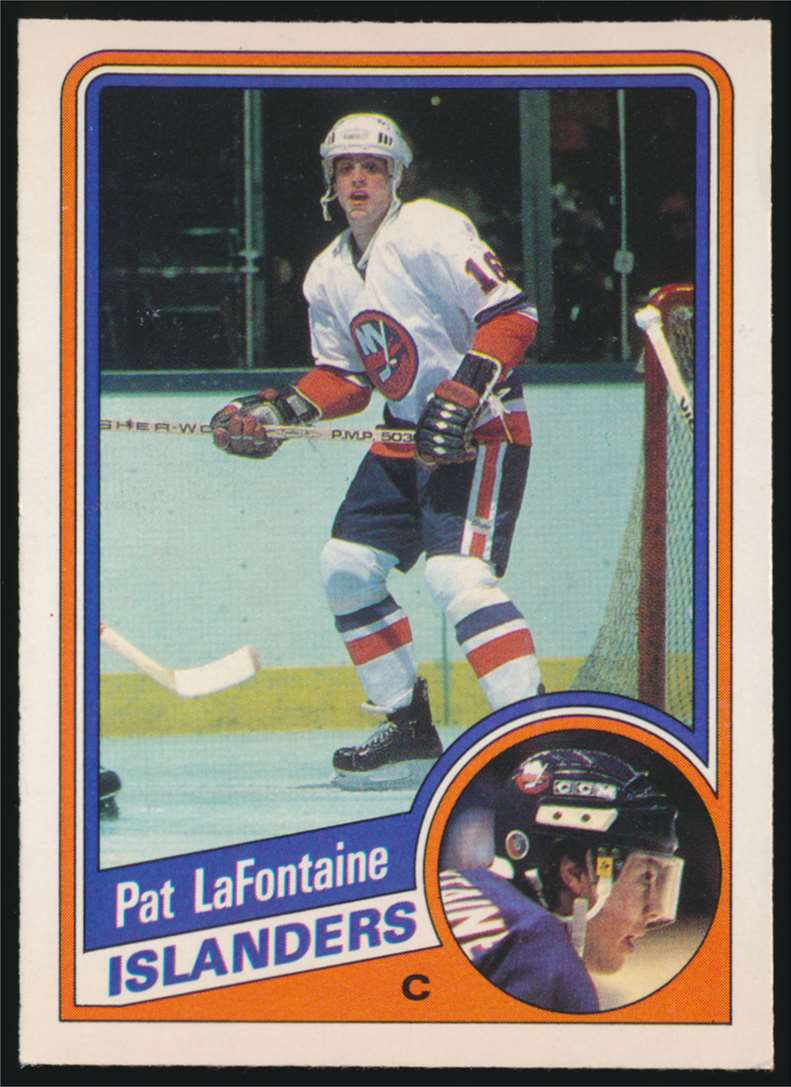 1984-85 OPC Pat LaFontaine #129 card front image