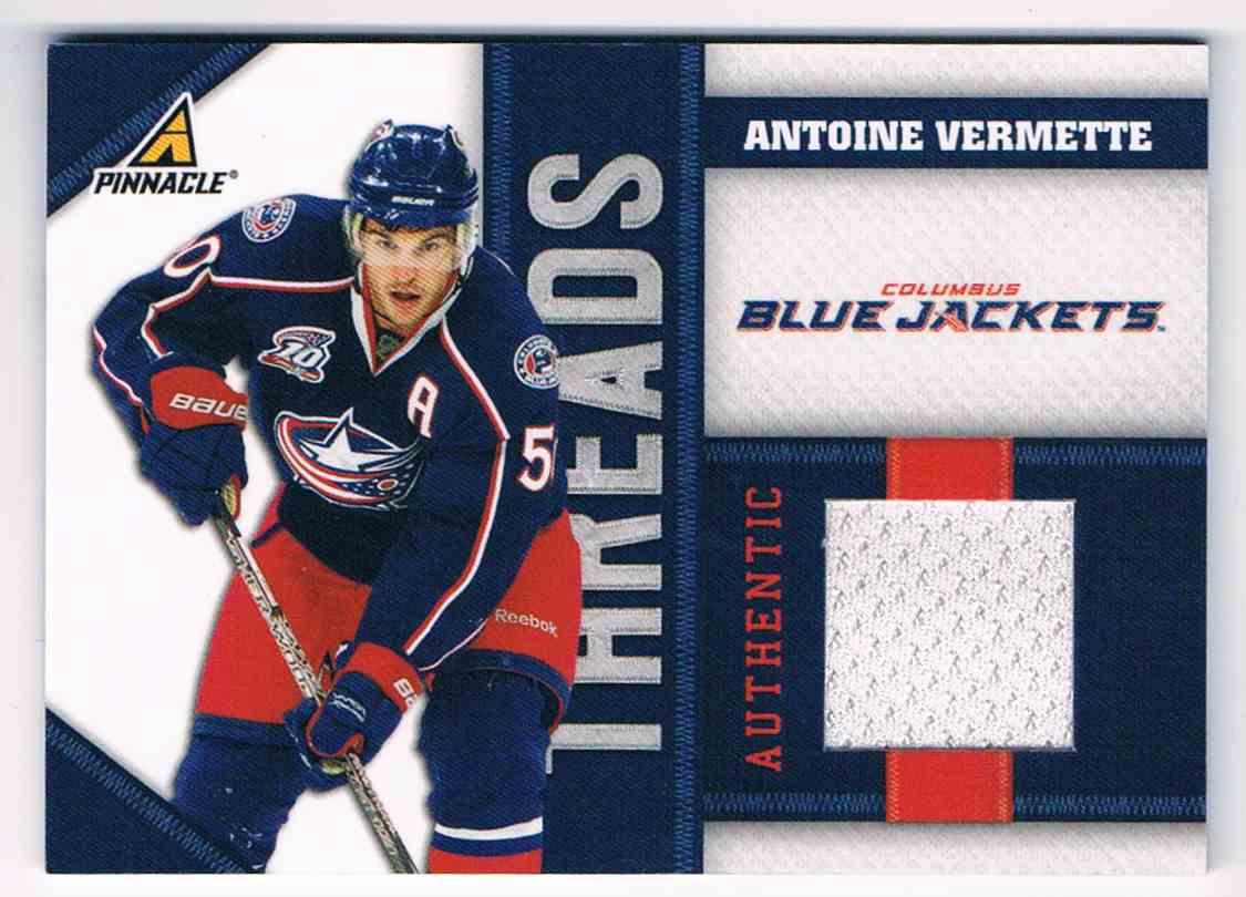 2010-11 Pinnacle Threads Antoine Vermette #AV card front image