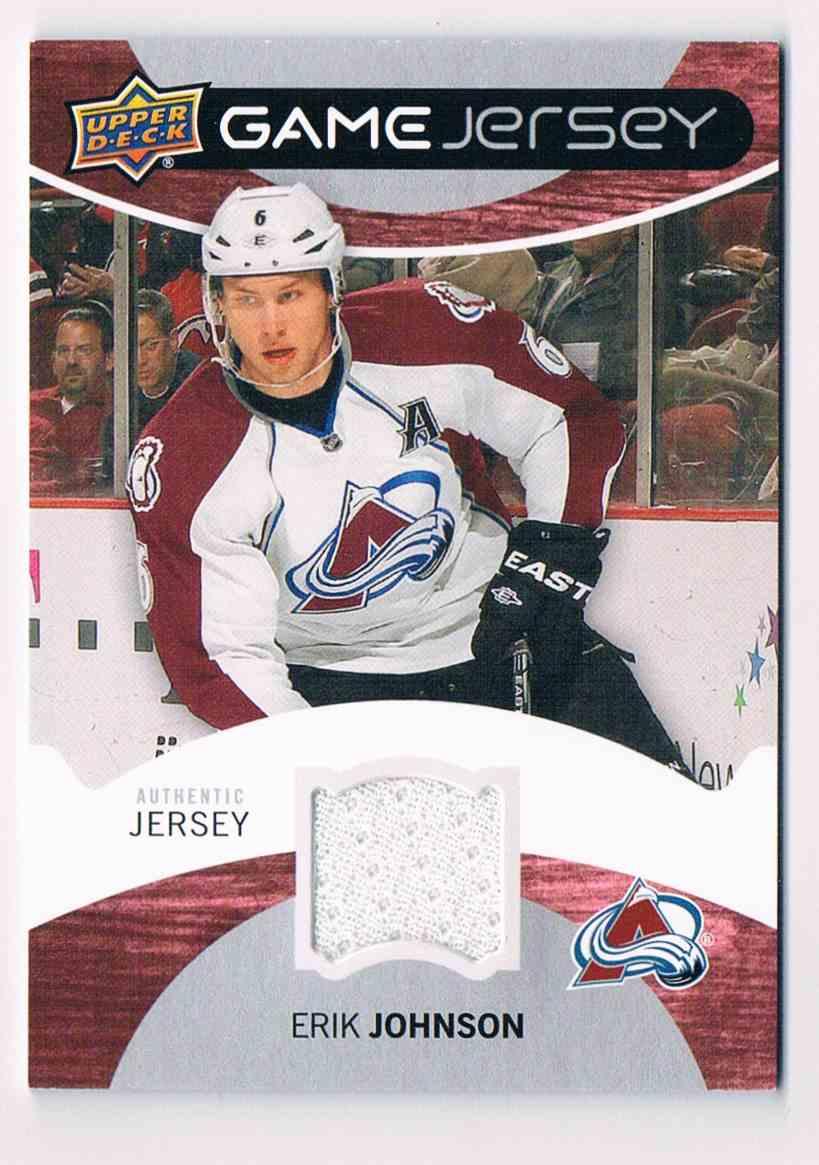 2012-13 Upper Deck Game Jersey Erik Johnson #GJ-EJ card front image