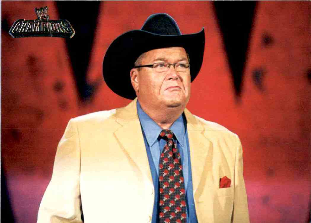 2011 Topps Wwe Champions Jim Ross #73 card front image