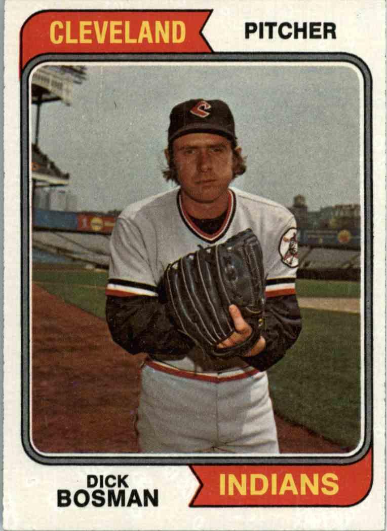 1974 Topps Dick Bosman #465 card front image