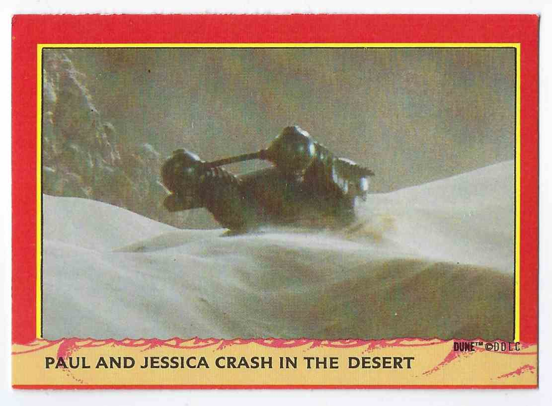 1984 Fleer Dune Paul And Jessica Crash In The Desert #57 card front image