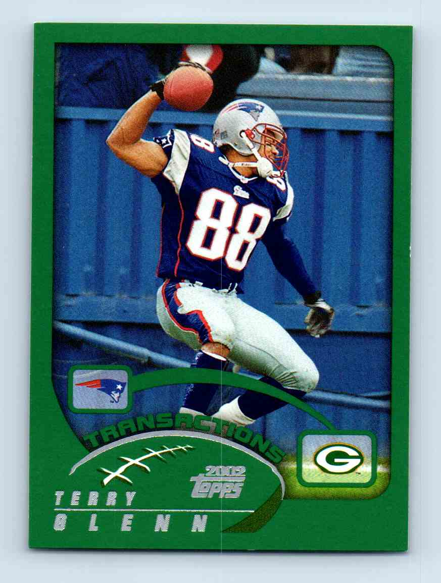 2002 Topps Terry Glenn #287 card front image