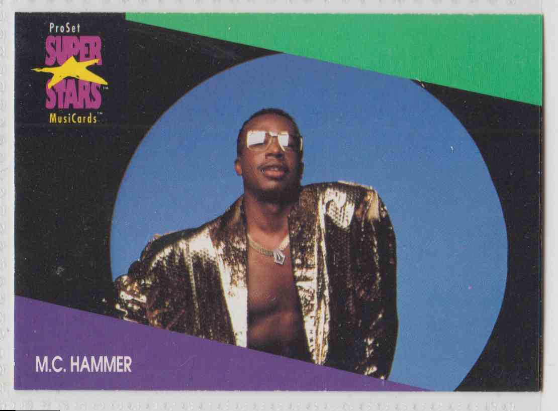 1991 Pro Set SuperStars MusiCards M.C. Hammer #126 card front image