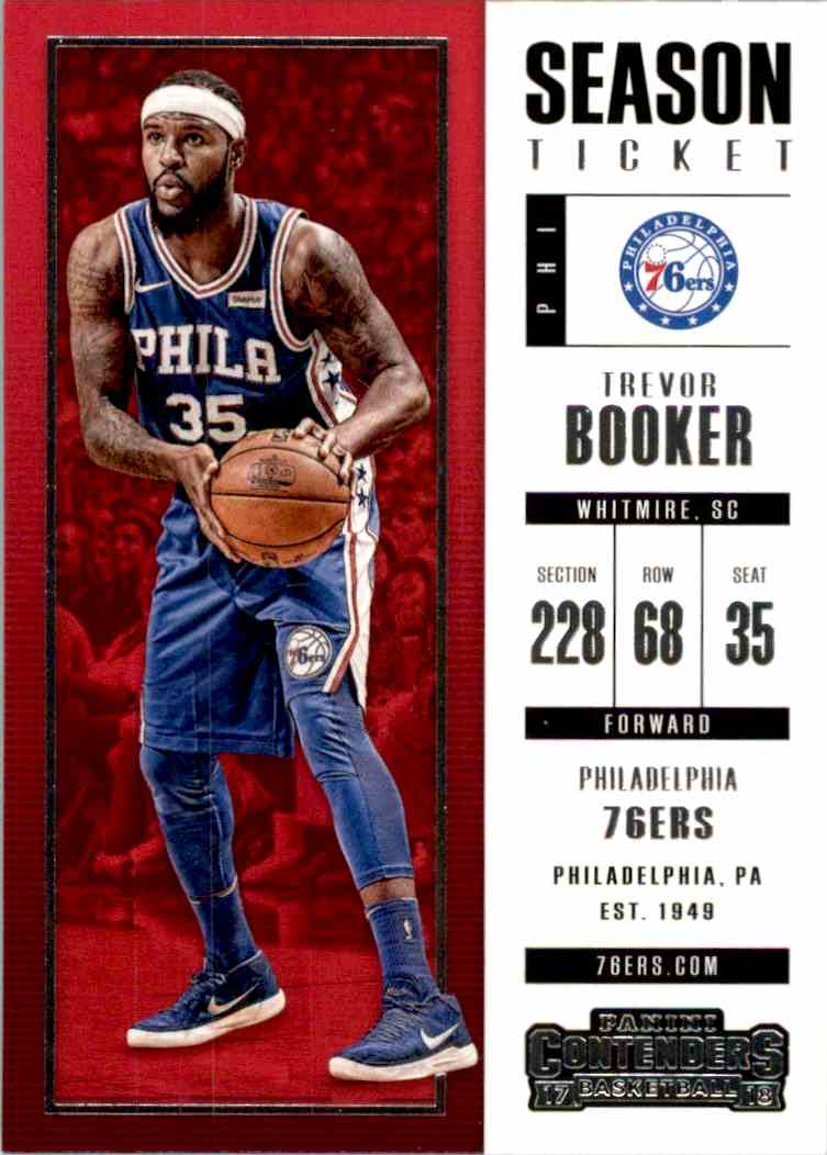 2017-18 Panini Contenders Base Trevor Booker #81 card front image